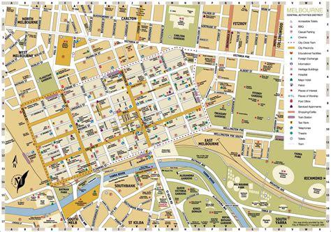 melbourne central district tourist map melbourne