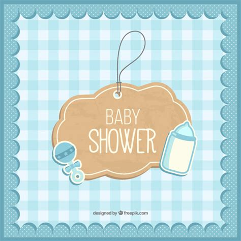 Cute Baby Shower Card Vector  Free Download