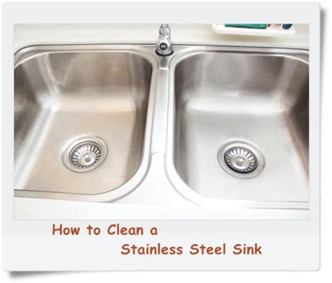 How To Clean A Stainless Steel Kitchen Sink  Food Corner