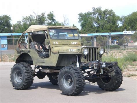 willys jeep off lifted jeep 1951 willy 39 s jeep m38 cj2 rock climber v 8