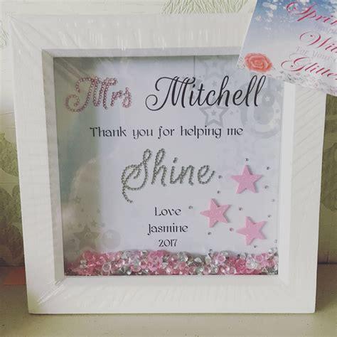 Personalised Gift For Teacher, Box Frame, Teacher Gifts