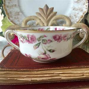 Stunning Haviland Limoges France Double Handled Bouillon Cup