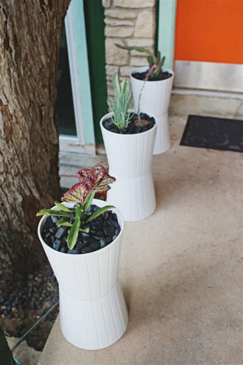 diy planters   front porch