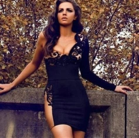 Dress, Brands, Bodycon, Bandage, Lace, Black And Gold, Wow