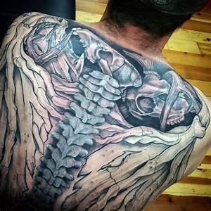 75 Spine Tattoos For Men
