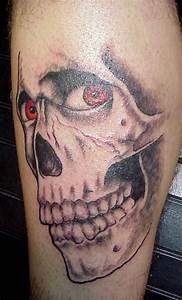 Biohazard Symbol Designs Red Eyes Evil Skull