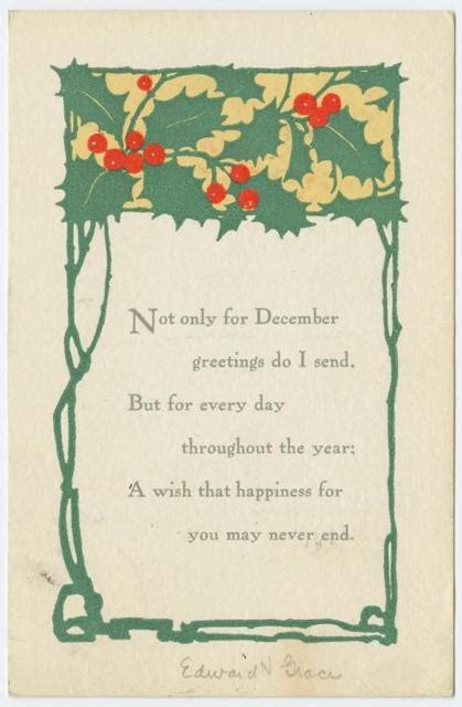 Not only for December greetings do I send... - PICRYL ...