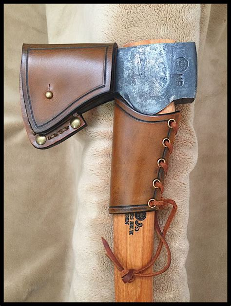 small leather gransfors bruks small forest axe 420 with custom leather