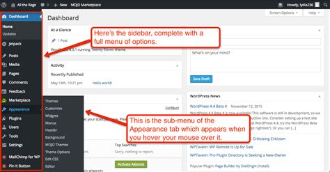 How To Use The Wordpress Dashboard W/ Video & Screenshots