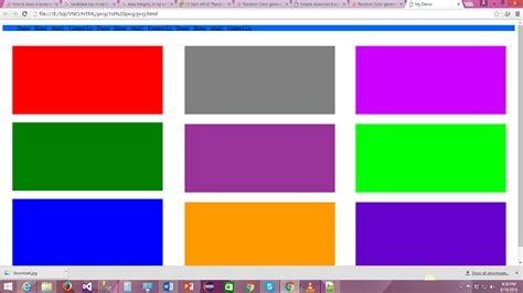 javascript random color random color generator the