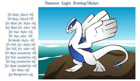 pokemon lugia dressup maker sound warning  creators