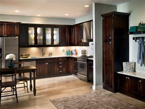kraftmaid kitchen cabinet cherry kitchen in peppercorn kraftmaid 3607