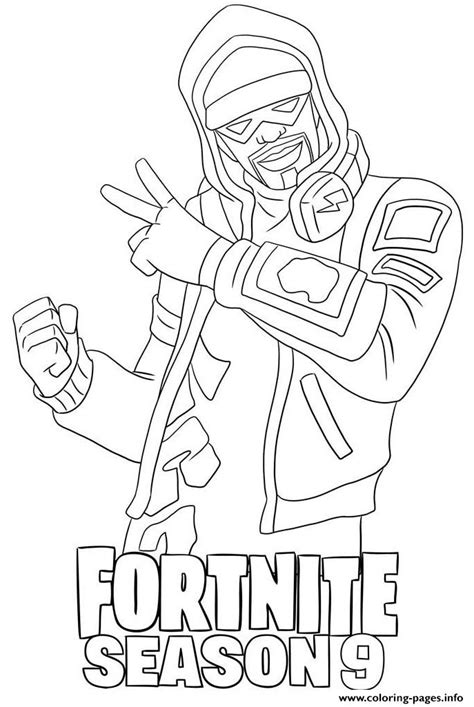 stratus skin  fortnite season  coloring pages printable