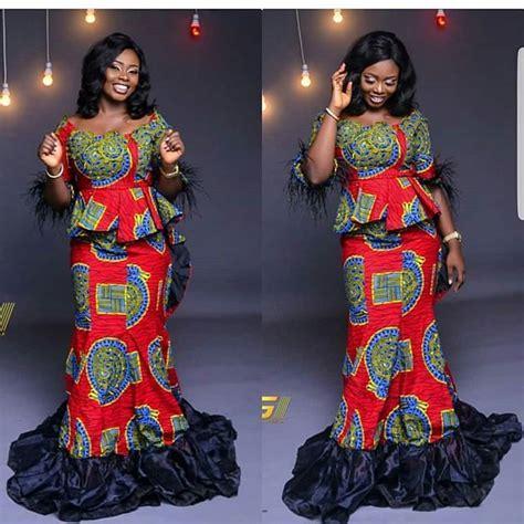 beautiful ankara skirt and blouse styles 2019