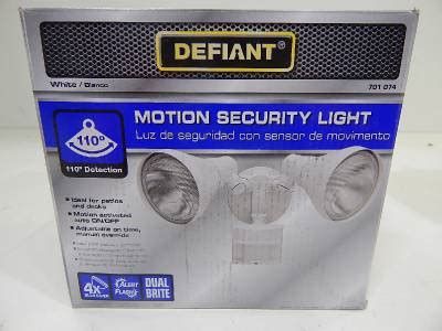 motion sensor light repair mixed lot of 6 defiant motion security light replacement