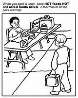 Coloring Manners Sheets Preschool Printable Cold Healthy Eating Activities Safe Sheet Foods Lunch Safety Rocks Handling Epic Daycare Kleurplaten Kleurplaat sketch template