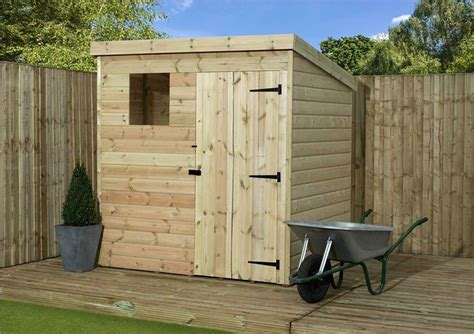 Wooden Garden Shed 6x6 Shiplap Pent Shed Pressure Treated