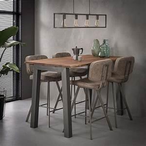 Table Haute Industrielle : table haute industrielle rectangulaire bois m tal sur cdc ~ Melissatoandfro.com Idées de Décoration