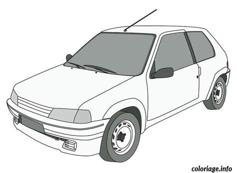 coloriage dessin voiture peugeot jecoloriecom