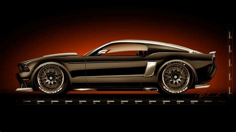 ford mustang  hollywood hot rods car body design