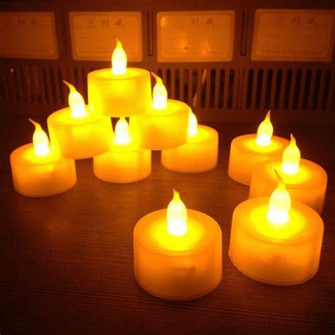 flickering led candle lights new 12 pcs flickering flameless led tea light flicker tea