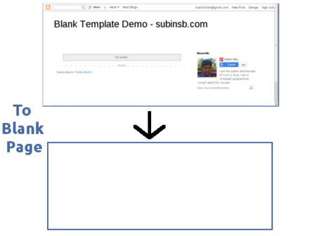 Make A Blank Template / Html Page In Blogger