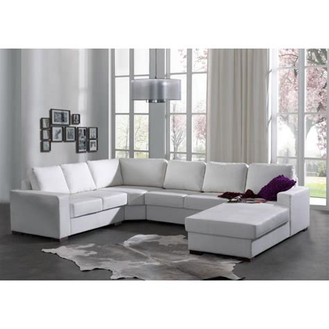 canapé en blanc canapé panoramique oara