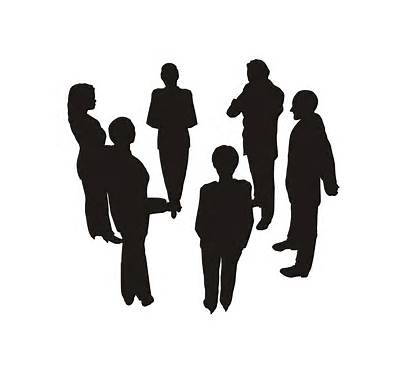 Silhouette Business Circle Clipart Consultation Teams Vector