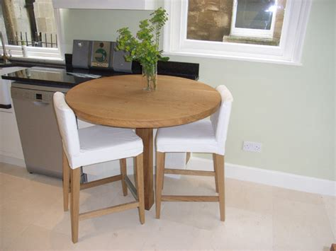 Round Oak Breakfast Bar  Contemporary  Kitchen  Other
