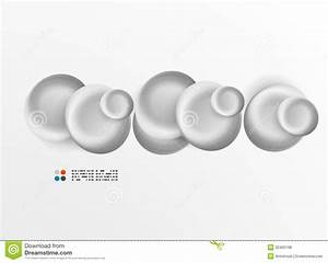 Vector White 3d Round Shapes Banner Royalty Free Stock ...