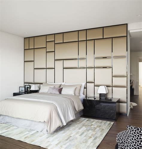 fabric covered wall panels create  interesting