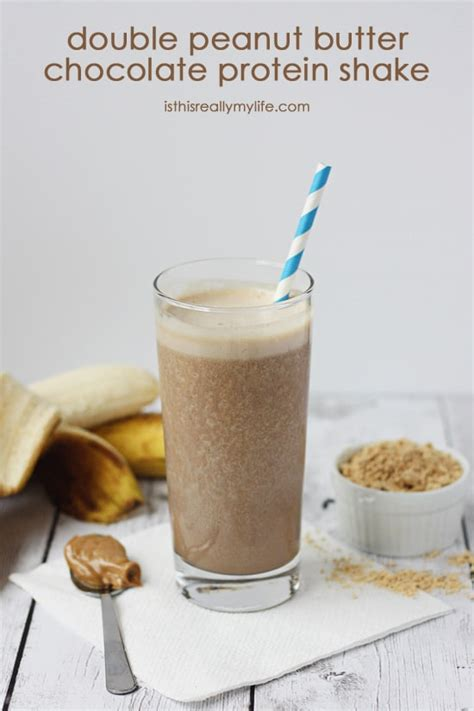 Double Peanut Butter Chocolate Protein Shake | Half-Scratched