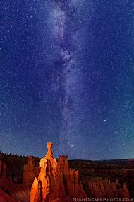 Bryce Canyon National Park Utah Night Star