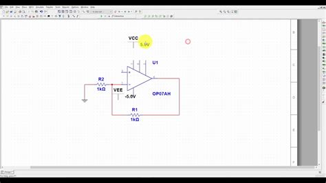 Multisim Tutorial Opamp Amplifier Simulation For