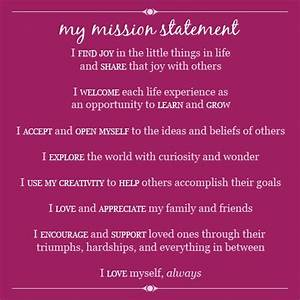 Vision Statement Examples Mission Possible Elembee Personal Mission Statement