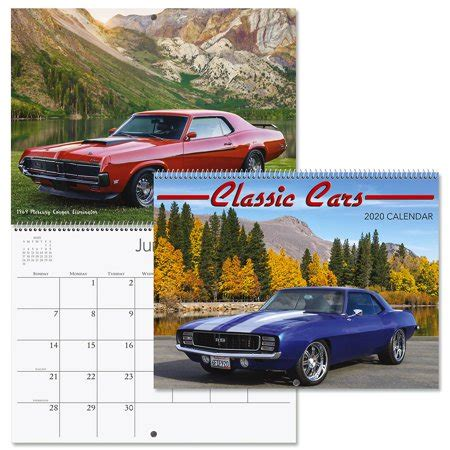 classic cars wall calendar bookstore quality spiral