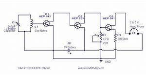 Direct Coupled Radio Circuit With Diagram