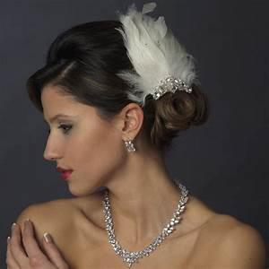 Vintage Feather Fascinator Hair Clip Elegant Bridal Hair