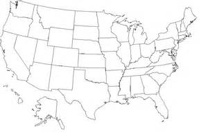Full Blank Map of the United States