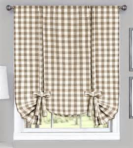 White Kitchen Curtains Valances by Buffalo Check Tie Up Shade Navy Country Style Valances