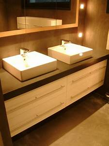 Meuble Salle De Bain Suspendu : meuble suspendu sur mesure ~ Edinachiropracticcenter.com Idées de Décoration