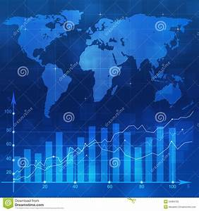 Stock Diagram Blue Backgorund Royalty Free Stock Photo