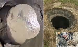 footage emerges  deep  siberian hole daily
