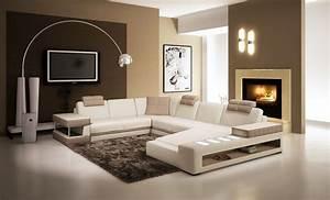 Canapé D Angle Cuir Blanc : deco in paris canape d angle panoramique en cuir blanc ~ Melissatoandfro.com Idées de Décoration