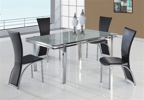 Small Stainless Steel Dining Table Farmhouse Room