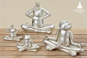 Buddha Figuren Deko : 2er set yoga frosch 9 cm my buddha ch by akasha gmbh ~ Indierocktalk.com Haus und Dekorationen