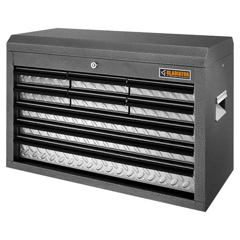 gladiator tool chest combo gladiator classic series 26 in w 9 drawer top tool chest
