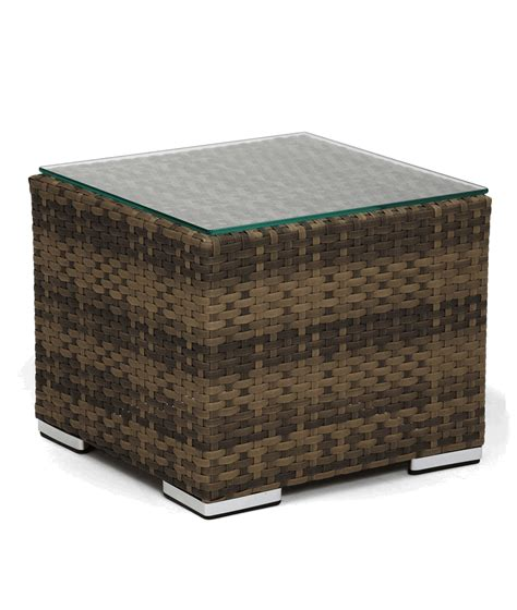 annapolis synthetic wicker outdoor end table w tempered
