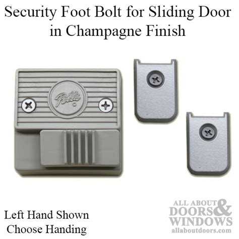 security foot bolt for sliding door chagne choose