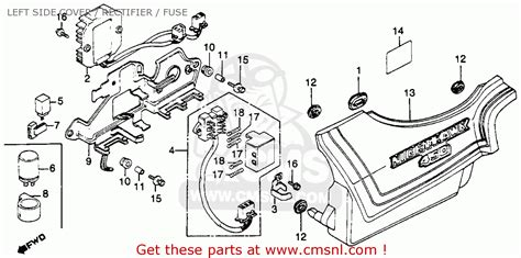 1986 Honda Cb450sc Wiring Diagram by Honda Cb450sc Nighthawk 1986 G Usa California Left Side